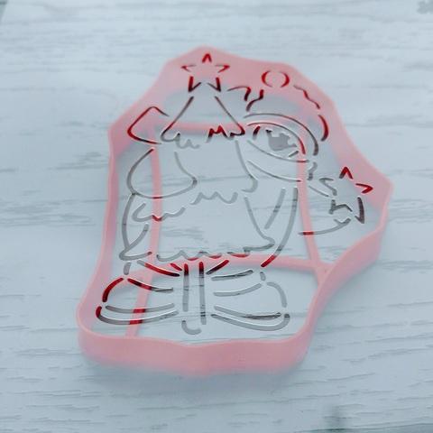 Трафарет Пингвин с елочкой форма для пряника, мастики, печенья