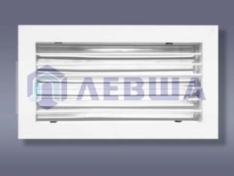 Решетка однорядная алюминиевая ЛВО 200*100
