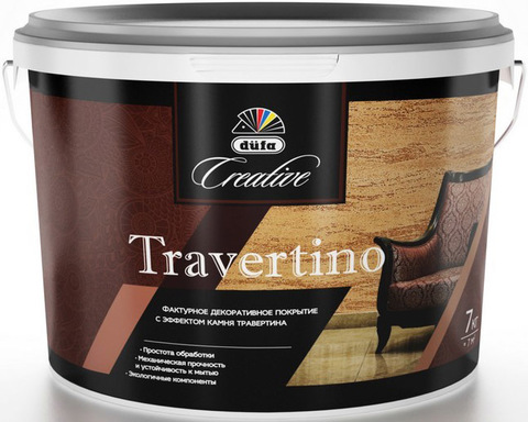 Dufa Creative Travertino/Дюфа Креатив Травертино Фактурное покрытие с эффектом травертина