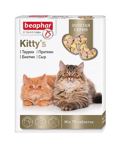 Beaphar kitty's mix золотая серия витамины для кошек и котят (75таб)