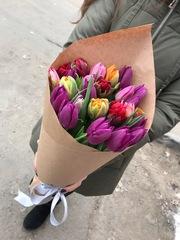 Микс из 15 тюльпанов