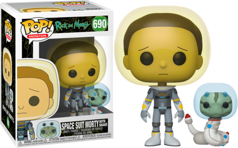 Фигурка Funko Pop! Animation: Rick and Morty - Morty in Space Suit with Snake