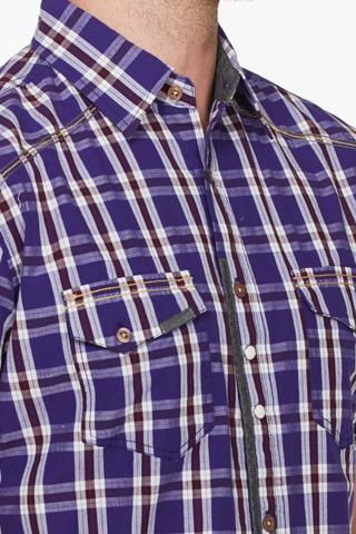 Рубашка мужская  M612-09B-66CC