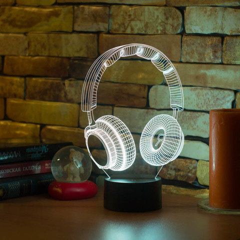 3D лампа Наушники