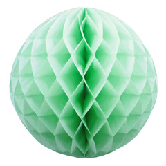 Бумажное украшение шар 40 см салатовый