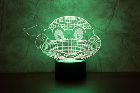 3D ночник Черепашка-ниндзя