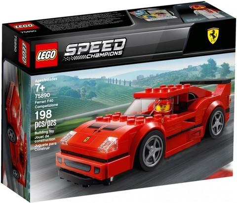 LEGO Speed Champions: Автомобиль Ferrari F40 Competizione 75890 — Ferrari F40 Competizione — Лего Спид чампионс Чемпионы скорости