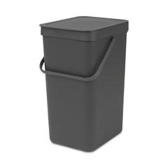 Ведро для мусора Brabantia Sort&Go серое 16л