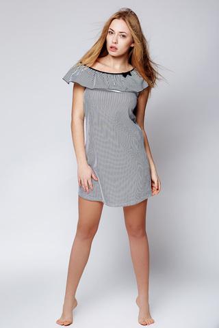 Молодежная женская сорочка в полоску