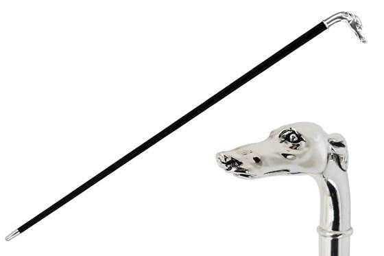 Трость мужская Pasotti Silver Greyhound Head Cane, Италия.