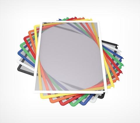 Рамка для перекидной системы DATAFRAME A4, серый