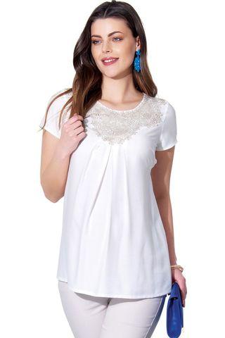 Блузка 01391 белый
