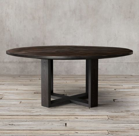 Wyeth Split Bamboo Cross-Base Round Dining Table
