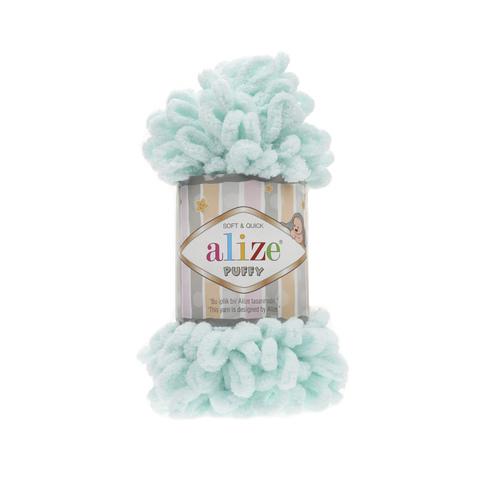 Купить Пряжа Alize Puffy Код цвета 015 Мята | Интернет-магазин пряжи «Пряха»