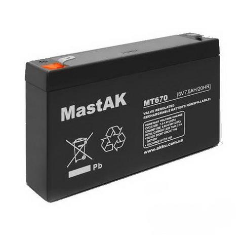 Аккумуляторы MastAk 6V 7A