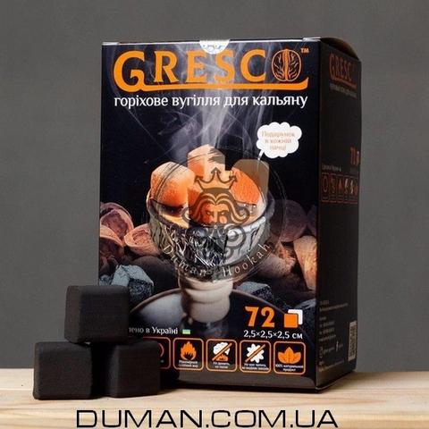 Натуральный Ореховый уголь Gresco (Греско) |1кг 72куб 25*25мм
