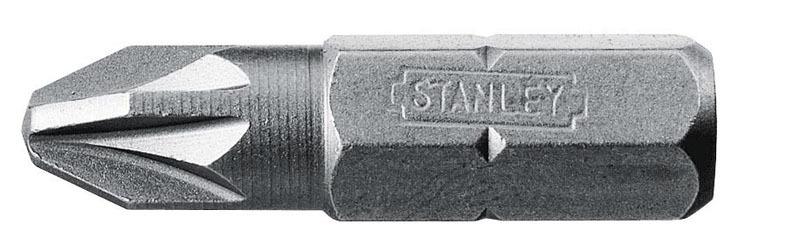Вставка отвёрточная PZ2 1/4 HEX 100шт Stanley  3-68-949