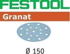 Шлифовальная бумага FESTOOL Granat STF  D150/16 P40 GR 50X