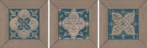 Вставка Меранти пепельный мозаичный 13х13