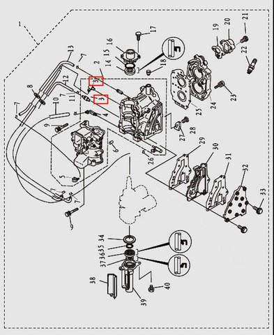 Штуцер для лодочного мотора T9.8 Sea-PRO (2-3)