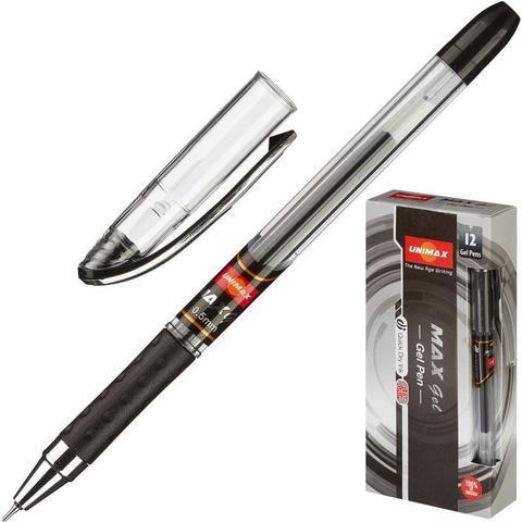 Ручка гелевая Unimax Max Gel 0,5мм, черн, неавтом