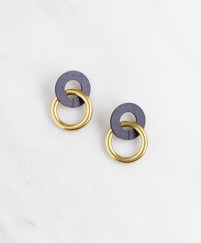 Серьги Isla Earrings in Midnight Blue