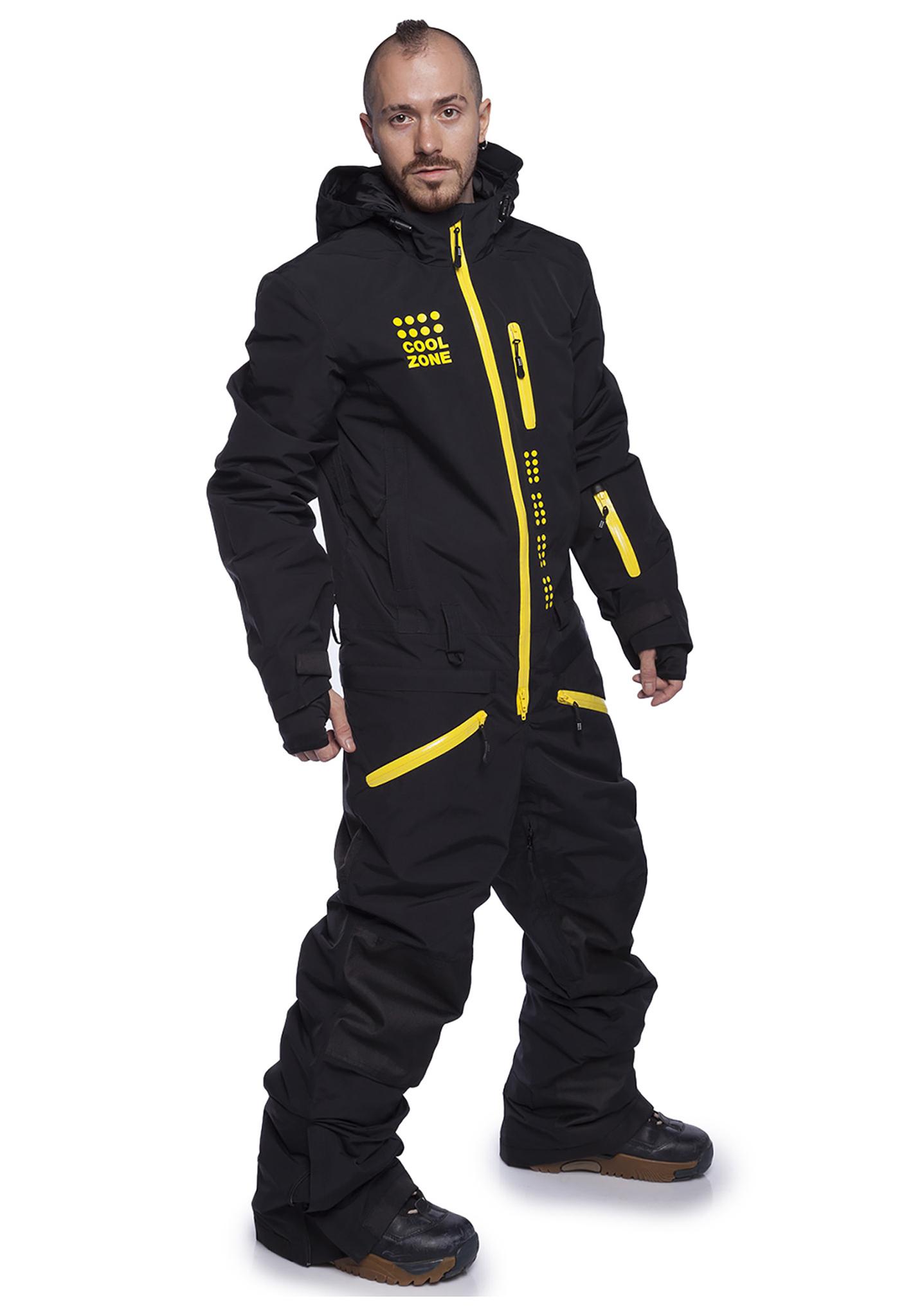 Утепленный комбинезон для мужчин Cool Zone Kite (Кул зон) черный для сноуборда и кайтинга фото