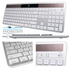 Клавиатура Logitech Wireless Solar Keyboard K750 for Mac - Silver