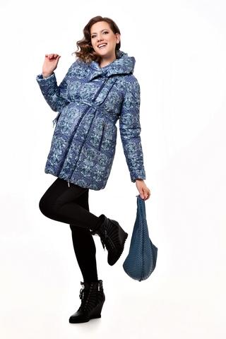 Куртка для беременных 04809 принт синий