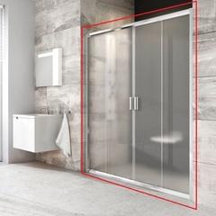 Дверь душевая раздвижная в нишу 160х190 см Ravak Blix BLDP4-160 0YVS0C00Z1 фото