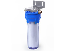 Фильтр Гейзер 1П 10SL 1/2 (прозрачный), метал.скоба (32029)