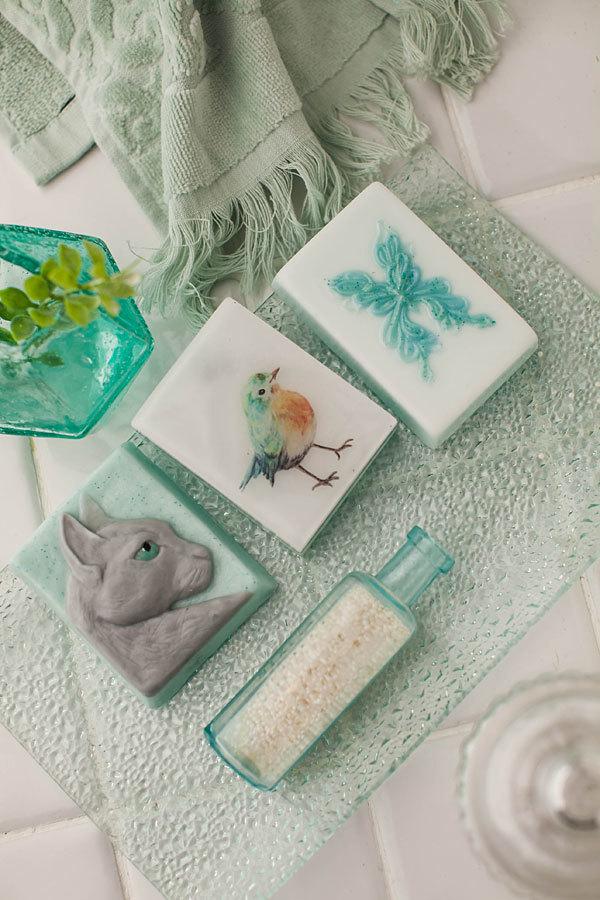 Мыло ручной работы Кошка. Пример готового мыла