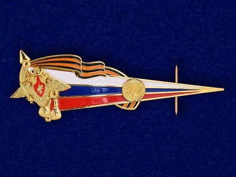 Околыш на берет ВДВ с российским флагом и гербом