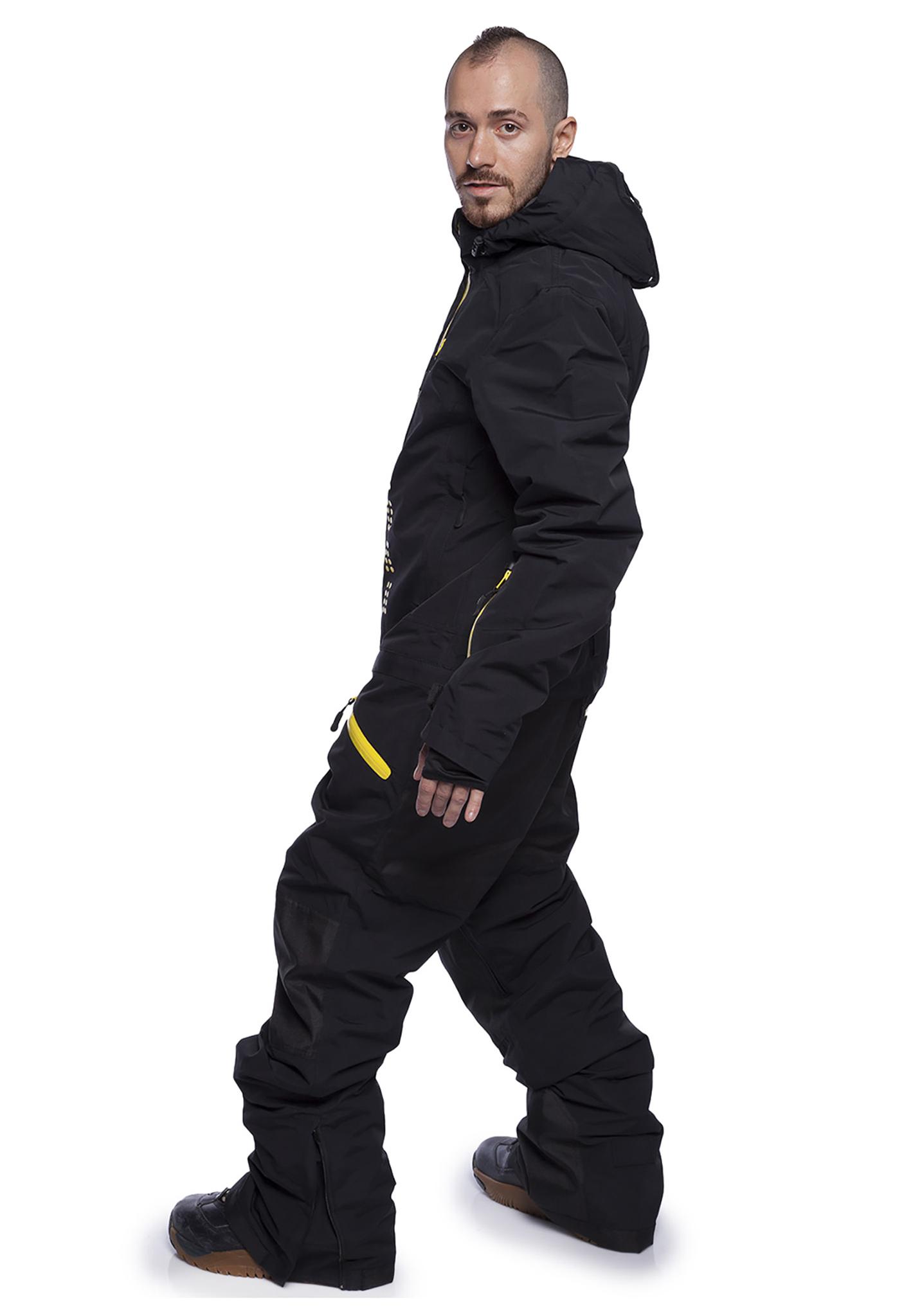 Утепленный комбинезон для мужчин Cool Zone Kite (Кул зон) черный для сноуборда и кайтинга