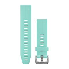 Ремешок силиконовый QuickFit 20 для Garmin Fenix 5S (цвет тиффани) 010-12739-04