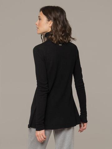 Женский черный джемпер с высоким горлом из 100% кашемира - фото 2