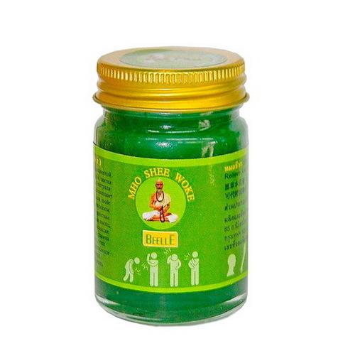 Зеленый тайский бальзам MHO SHEE WOKE, 50 мл.