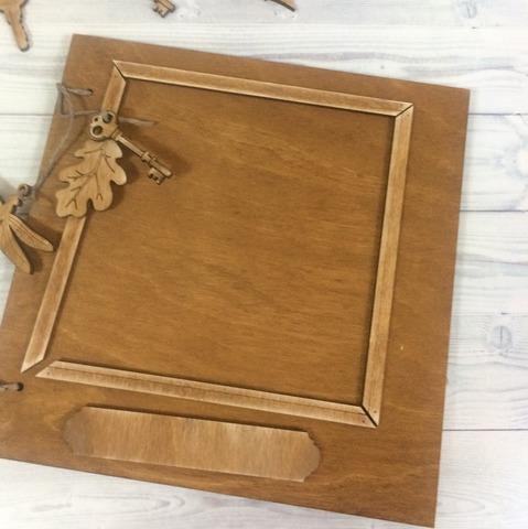 055-9295 Обложки для альбома/книги с декором деревянным (5 шт.)