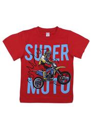 BK002F-58 футболка для мальчика, красная