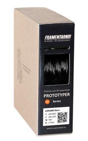Пластик Filamentarno! CERAMO NERO. Черный, 1.75 мм, 750 гр