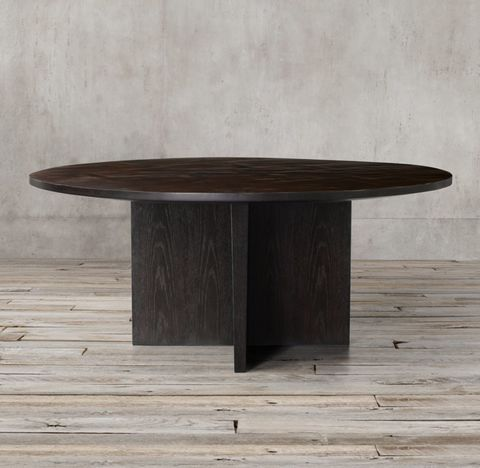 Wyeth Split Bamboo Floating Round Dining Table