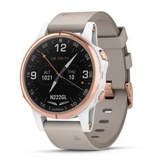 Умные авиационные часы Garmin D2 Delta S розовое золото с бежевым ремешком 010-01987-31