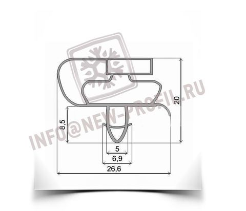 Уплотнитель для холодильника Атлант МХМ 1805-33 х.к 960*560 мм (021)