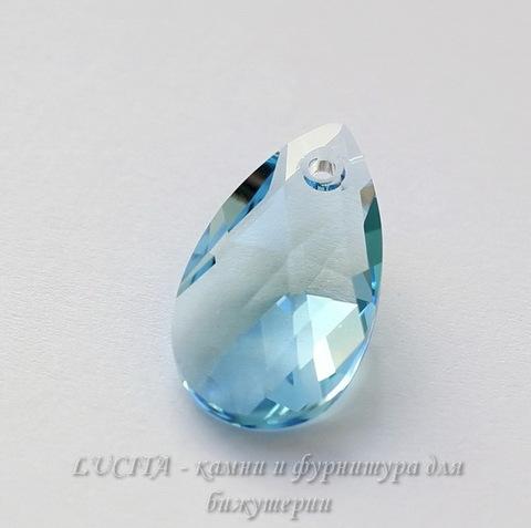 6106 Подвеска Сваровски Капля Aquamarine (16 мм)