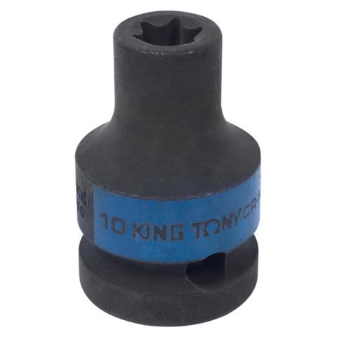 KING TONY (457510M) Головка торцевая ударная TORX Е-стандарт 1/2