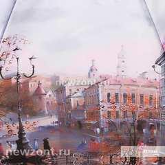 Женский мини зонт механический легкий Lamberti осенний город