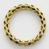 Коннектор - кольцо с узором 24 мм (цвет - античное золото)