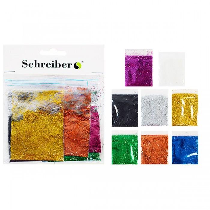 Набор цветных блесток в пакетиках по 5г., 6цв. Производство Россия