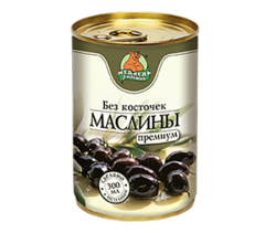 """Маслины """"Медведь Любимый"""" без косточки 300 мл"""