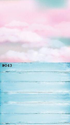 Фотофон виниловый стена-пол «Розовые облака» №043